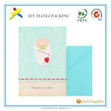 2015 de la alta calidad la tarjeta telefónica, papel de tarjetas de visita, tarjetas de visita de papel con el sobre
