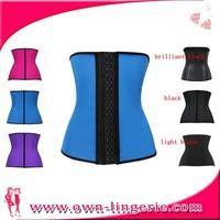 2015 new style fashionable corset girl steel boned leopard print corset