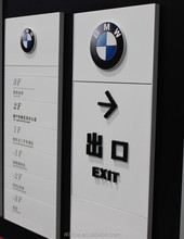 High quality painted aluminium door sign plate office interior sign