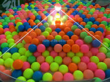Colorful logo customized cheap promotional golf balls on christmas