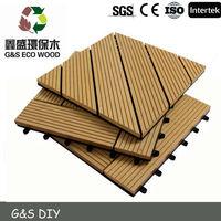 Outdoor Plastic Wood Floor Tiles/WPC DIY Decks/deck tiles wpc diy