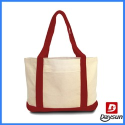 "Cotton Canvas Tote Bag with 24"" Handles"