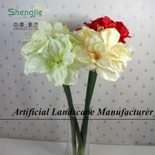 SJYY014 decorative artificial silk single kefir lily/Clivia Miniata/african lily