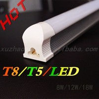 Factory direct sale 2015 China Hot sale low price high quality energy saving led tube light T8 T5 8W 12W 18W