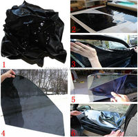 Non-glue removable static cling window glass reusable car tint film