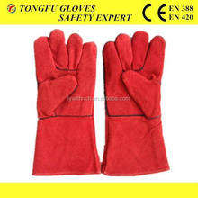"""14"""" RED LEATHER WELDING SAFETY GLOVES GRADE A/AB/BC"""