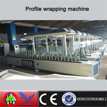 PVC and Decorative Paint paper profile Wrapping Machine(Cold glue)