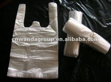High quality Transparent white vest bag for breakfast
