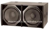 "2x18"" Subwoofer speaker for night club/ DE Acoustics TH-28/100 night club subwoofer speaker"