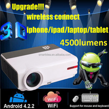 2015 Newest Mini LED LCD 3D Android 4.2.2 Projector 3D wifi Projector Home cinema 1080P Portable Beamer