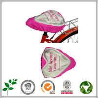 custom LOGO Bicycle Saddle Rain Cover pvc printed promotional Bike Seat Covers