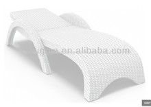 miami de resina de mimbre chaise lounge blanco set