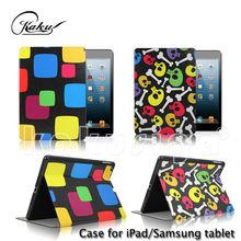 Kaku professional flip design smart cover for 9.7 inch silicone tablet case for kids
