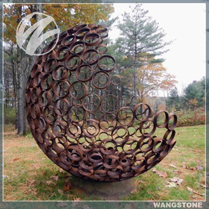 Australia Art Large Hollow Metal Sphere For Garden