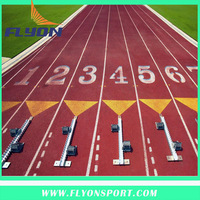 rubber running pictch track IAAF certificated athletic track All weather Prefabricated track