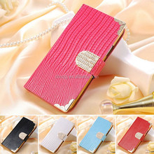 Luxury Wallet Bling PU Leather Case Phone Bag Rhinestone Flip Cover For Samsung Galaxy S4 I9500