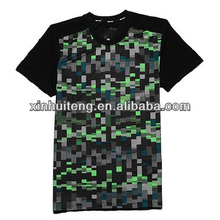 black plain leisure crewneck print cool dry high quality fashion 100% polyester wholesale men custom branded t-shirt