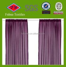 purple wholesale polyester woven 3 pass blackout fabric
