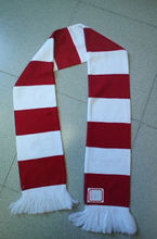 custom knitted striped plain double scarf pattern