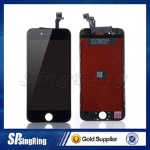 For iPhone 6 plus Replacement LCD Touch Screen Digitizer Assembly White+black+home button + mash+ear mesh