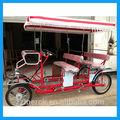 nuevo estilo de 4 ruedas cuadriciclo bicicleta adulto para hacer turismo