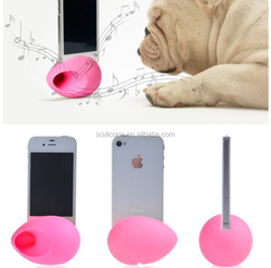 Egg shaped phone amplifier silicone,silicone egg speaker stand /egg silicone speaker