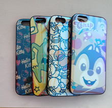 In stock factory cheap price color-plating carton mobile phone case for iphone 6, phone back cover case for iphone 6/6 S