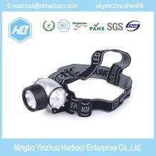 good quality ABS Emergency camping head light 7 LED headlamp/led headlight