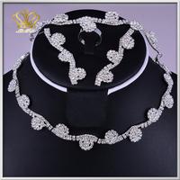 2015 vogue rhinestone crystal bridal wedding jewelry set female rhinestone pendants for chunky necklace