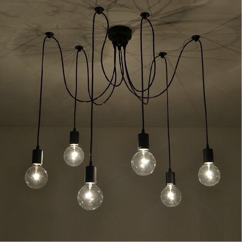 contemporary edison chandelier light pendant lamp ceiling hanging. Black Bedroom Furniture Sets. Home Design Ideas