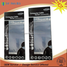Custom printed computer cell phone data usb cable packaging bag