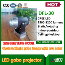 high brightness 30w LED lights projectors one image rotating around another
