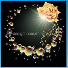 Wall Art with LED Lights Canvas Print Lighted Picture of rounded