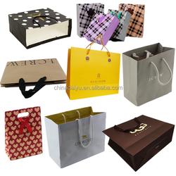 custom logo low cost printed paper bag, gift paper bag, paper shopping bag making machine