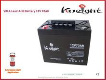 Battery prices 12V 70AH gel dry batteries for ups