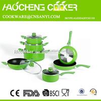 2015 New design eco friendly ceramic cookware set,ceramic coating cookware