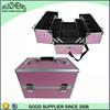 Hot mini aluminum pink ABS professional makeup case