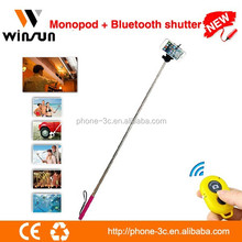 Silicon selfie stick, monopod bluetooth rubber