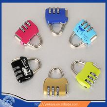 Hot!!! 2015 fashion mini combination lock,high quality zinc alloy mini padlock,latest design bag digital lock