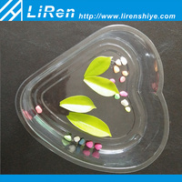 2015 Hot Selling Plastic Heart-shaped Dry Food Fruit Packaging Container Tray