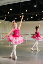 MBP0003 Teen girl hot pink stunning Child stage competition dance costume party dress