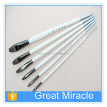 Artist paint brush factory for professional wood handle paint brush for water color