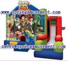 Latest design and cheap inflatable TOY Story combo, inflatable jumping castle, inflatable slip and slide