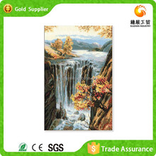 5d Diy Gemstone Diamond Mosaic Waterfall Landscapes Oil Painting On Canvas