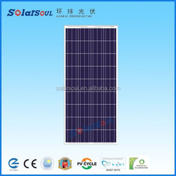 140w poly high efficient JA china solar cells 6x6 for solar panels