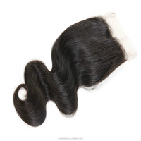 Most popular good quality 20 inch beauty indian virgin hair wet and wavy closure