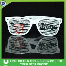Custom Cheapest Mini Pinhole Plastic Promotion Sunglasses With Logo For Brand Promotion/Holiday Gifts