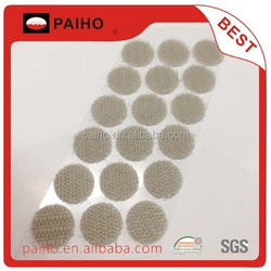 100% nylon hook and loop round dot with efficient adesive on the back