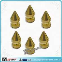 YSSTONE Wholesale Double-deck Gold Metal Studs For Learther