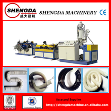 PVC/PE/PP plastic single wall corrugated pipe equipment/production line/cable protection pipe making machine from china